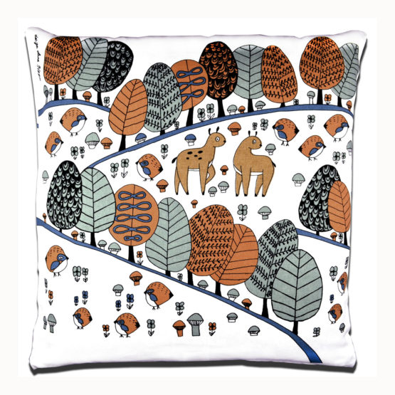 Cushion cover ,,,,Rustling Tree,, Fabelskog by Anna Strom